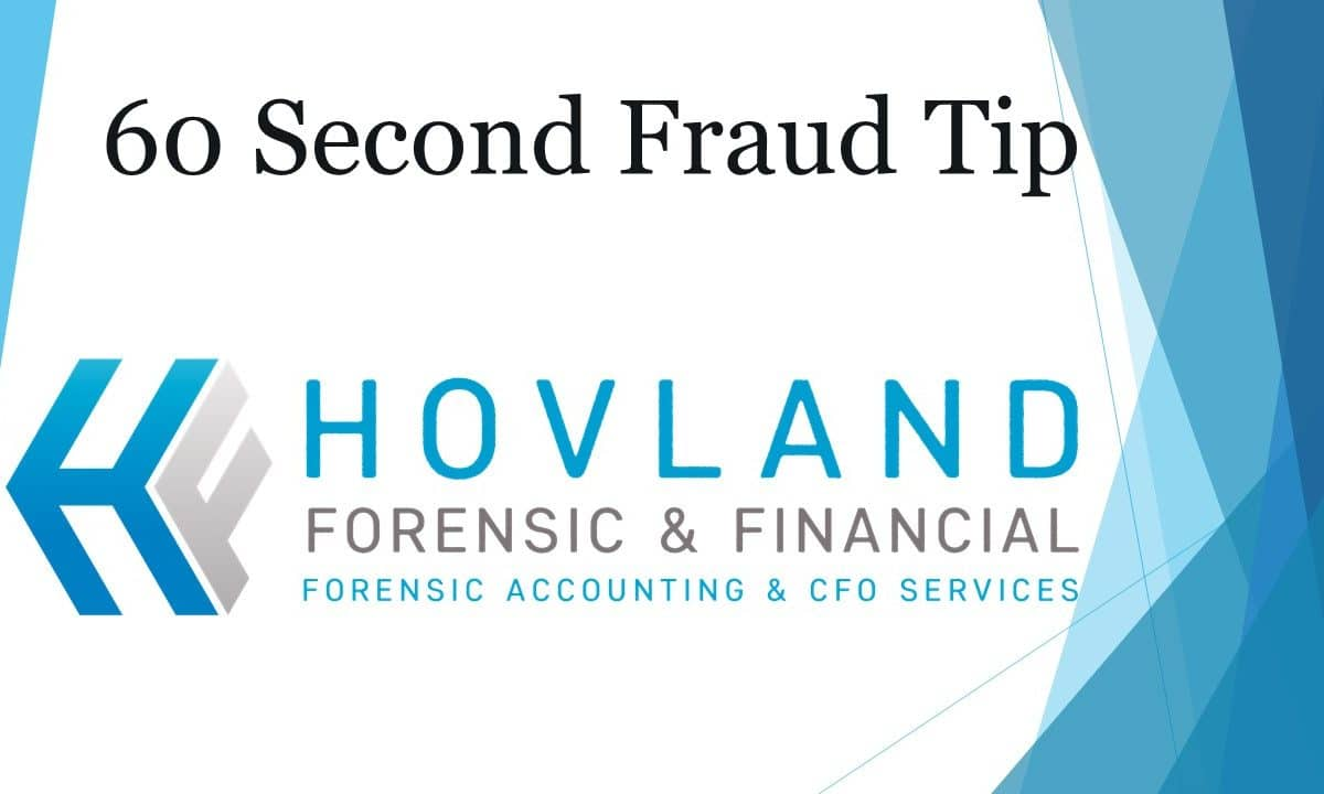 fraud tip by certified forensic accountant